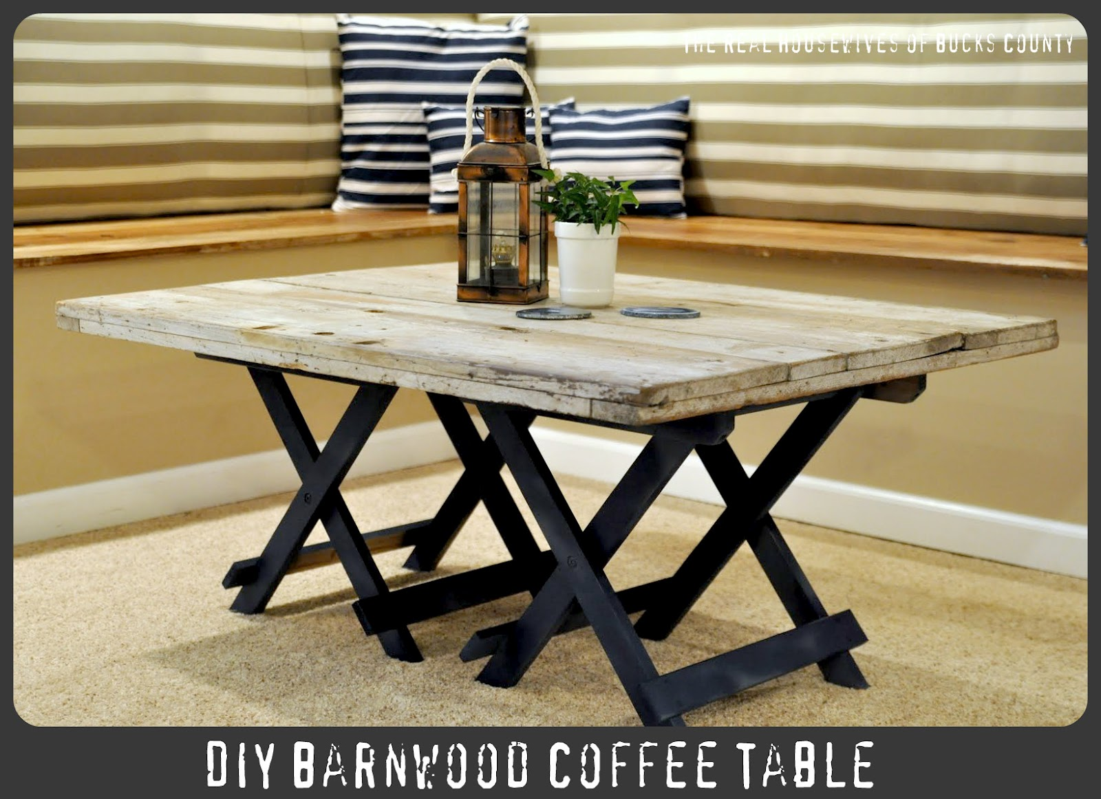 how to make a reclaimed barn wood coffee table