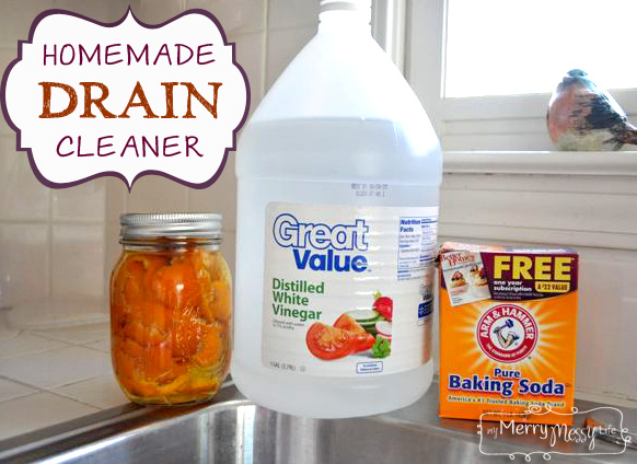 Homemade Drain Cleaner Recipe Green And Non Toxic