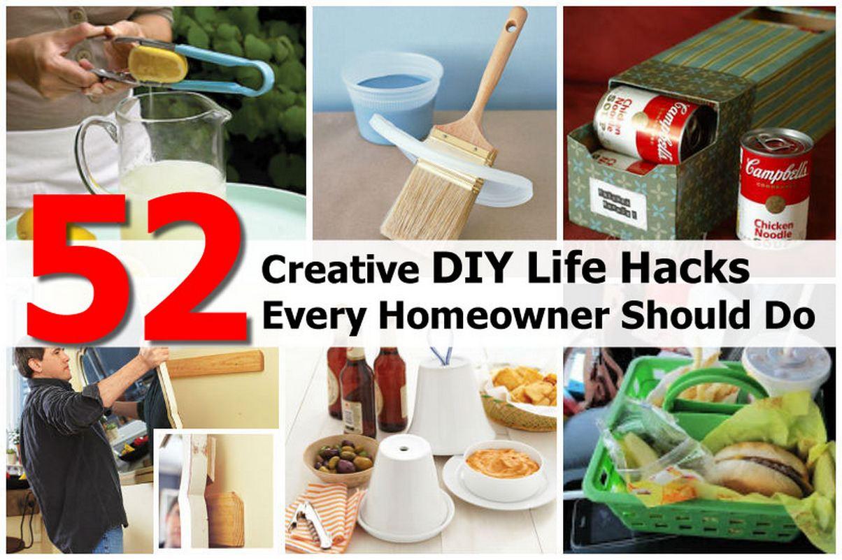 52 Creative DIY Life Hacks Every Homeowner Should Do