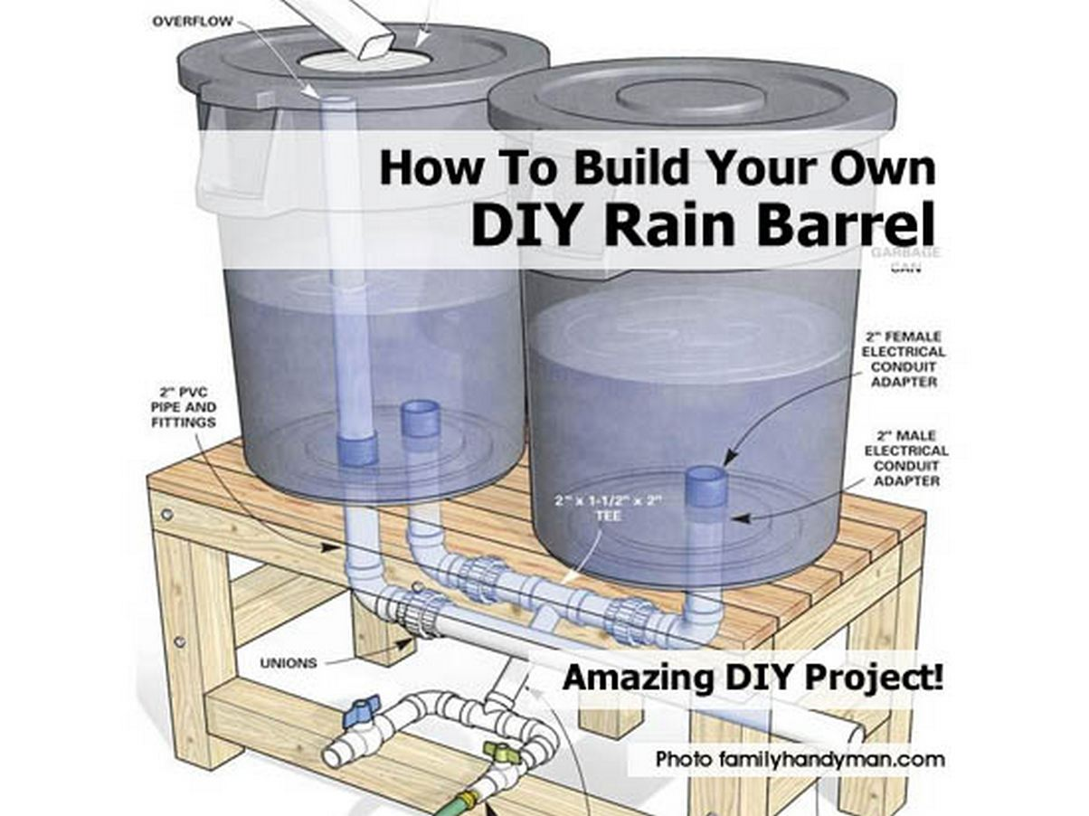 how to build your own diy rain barrel