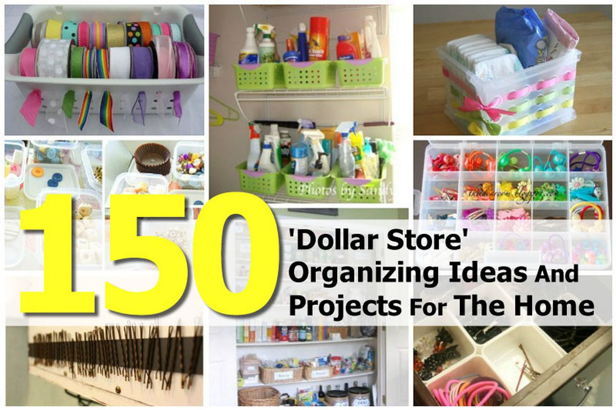 150 39 dollar store 39 organizing ideas and projects for the home Cheap home storage ideas