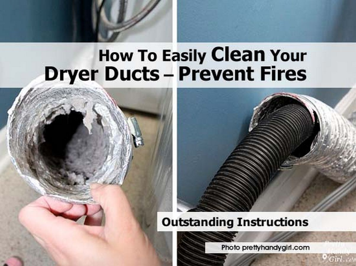 how to easily clean your dryer ducts prevent fires. Black Bedroom Furniture Sets. Home Design Ideas