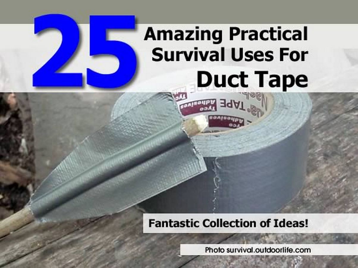 25 Amazing Practical Survival Uses For Duct Tape