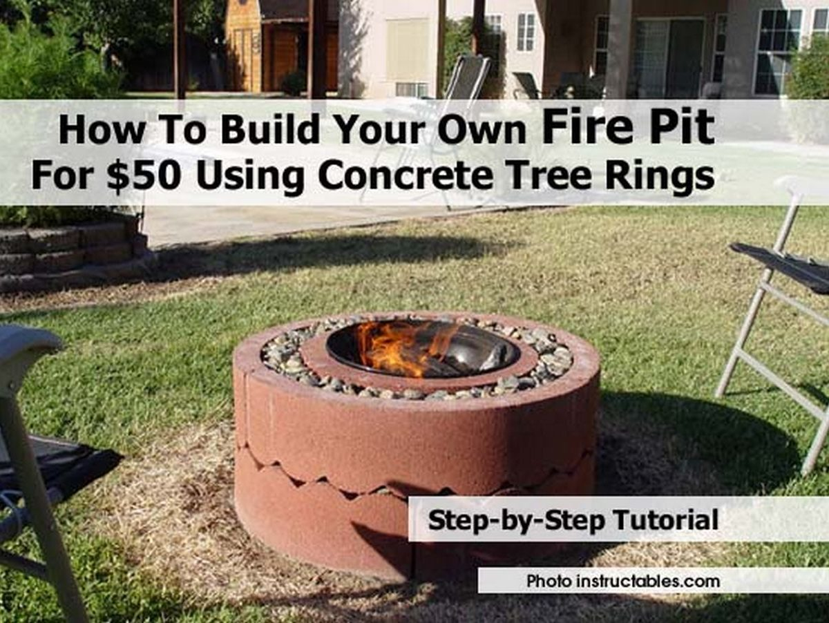 how to build your own fire pit for 50 using concrete tree