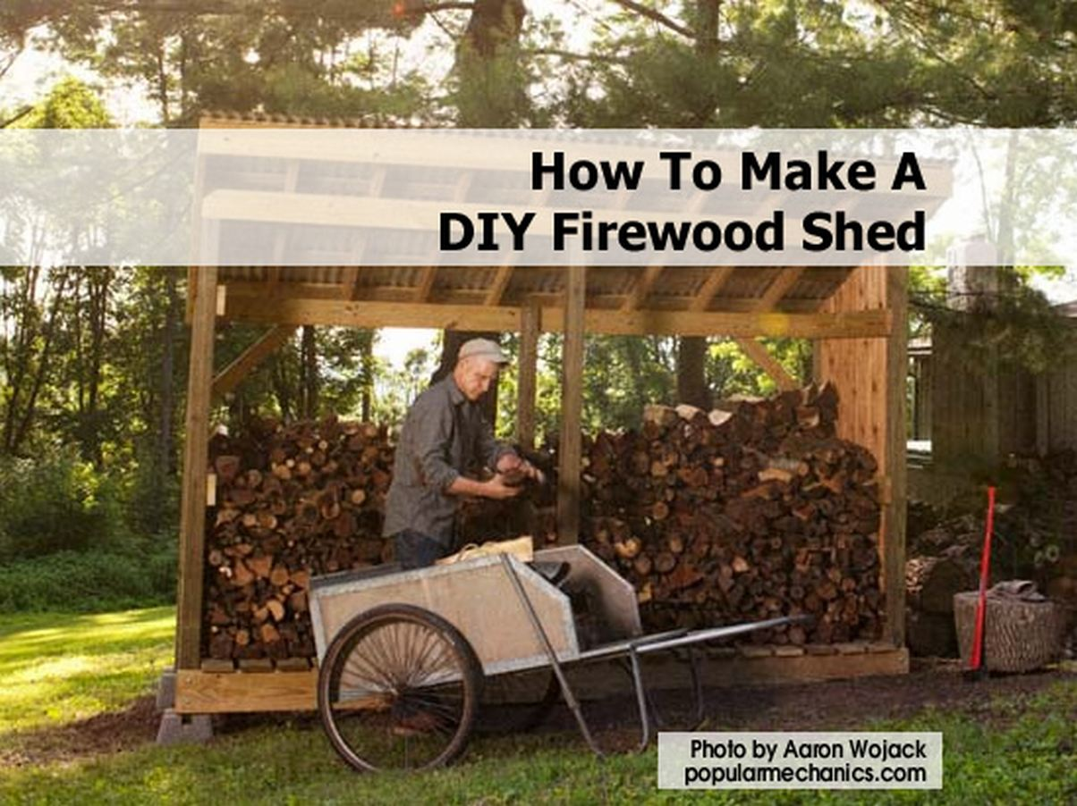 ... shows us how he built this gorgeous firewood shed from scratch