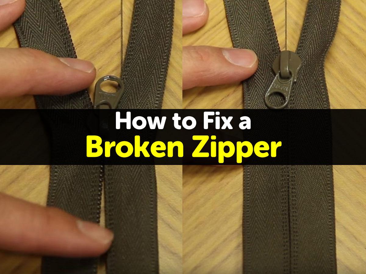 how to fix a broken zipper. Black Bedroom Furniture Sets. Home Design Ideas