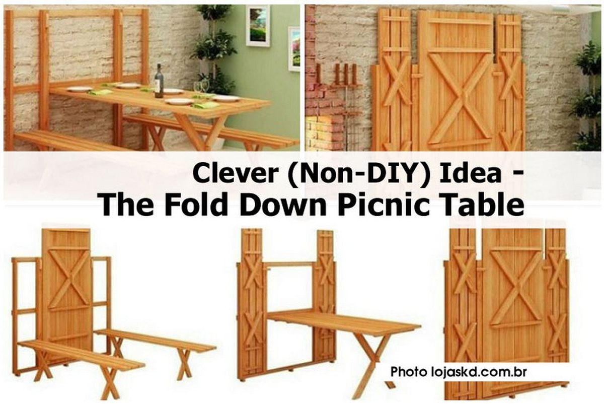 Clever Non Diy Idea The Fold Down Picnic Table