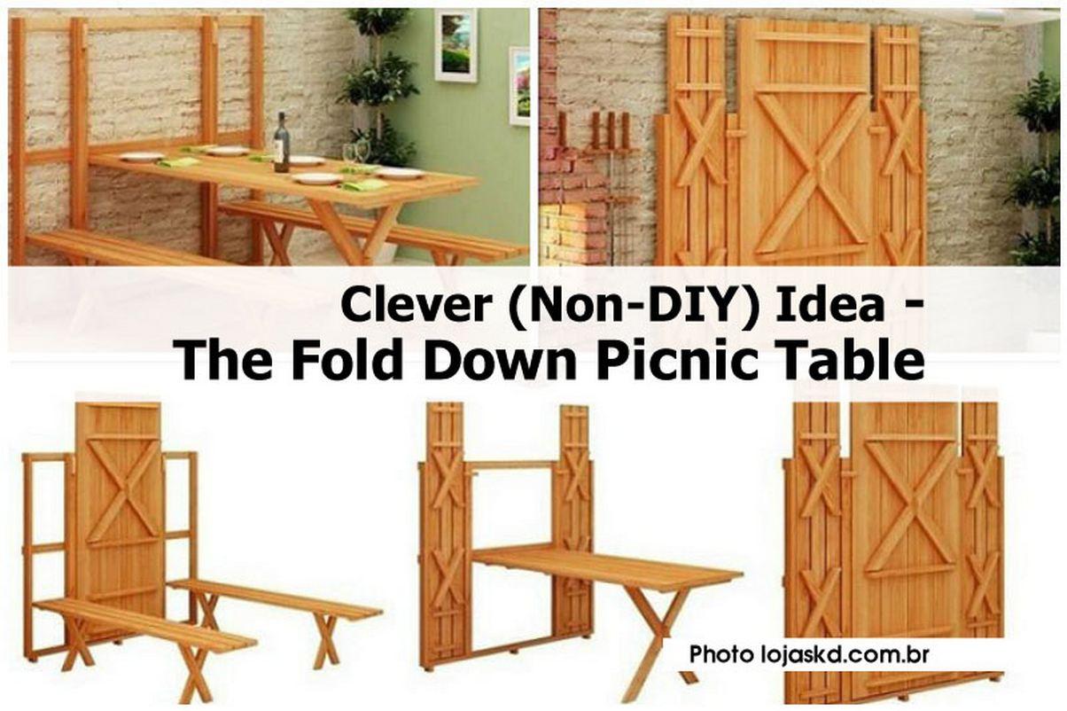 Clever (Non-DIY) Idea – The Fold Down Picnic Table
