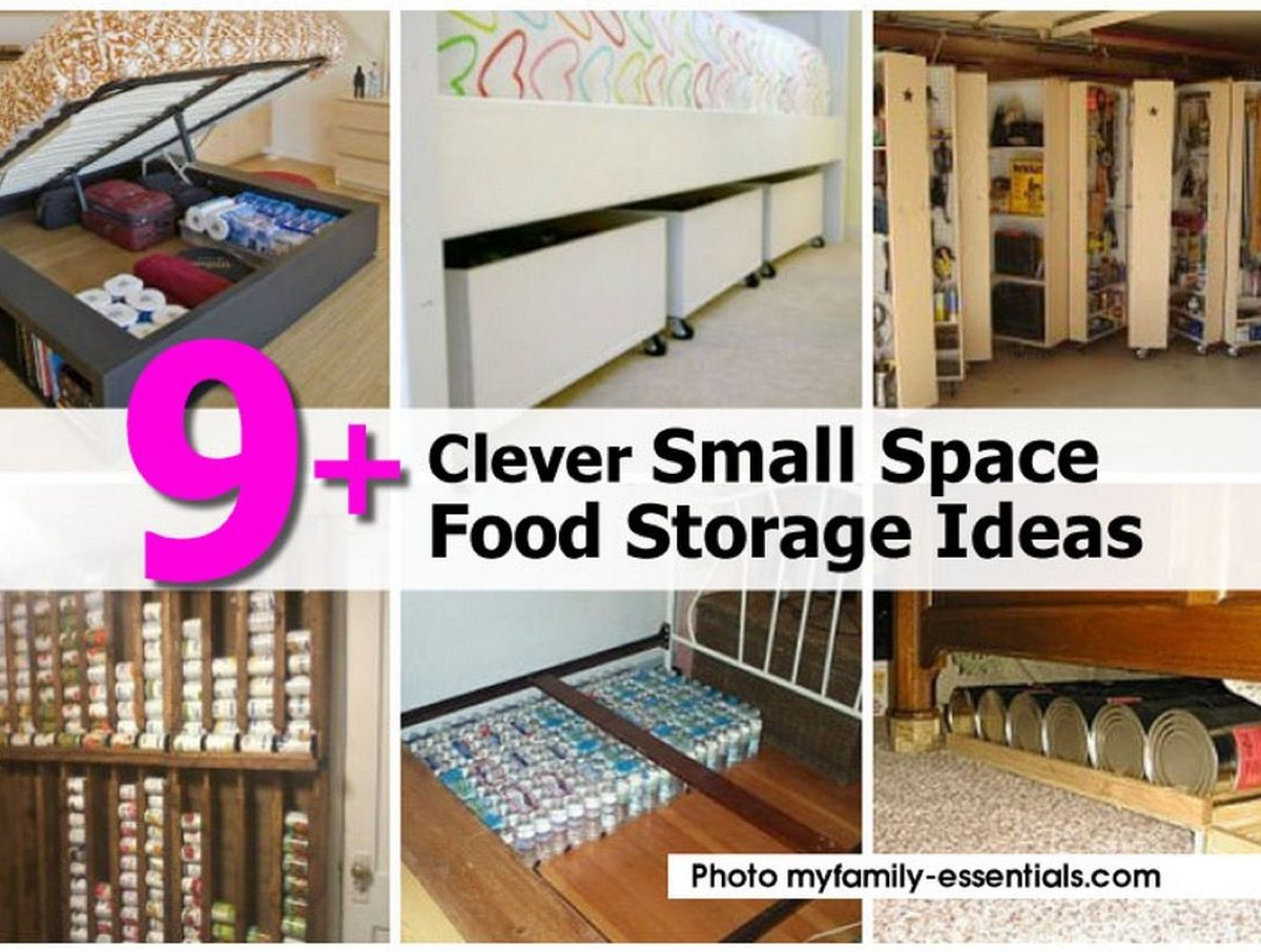 9 clever small space food storage ideas - Clever storage ideas for small spaces concept ...