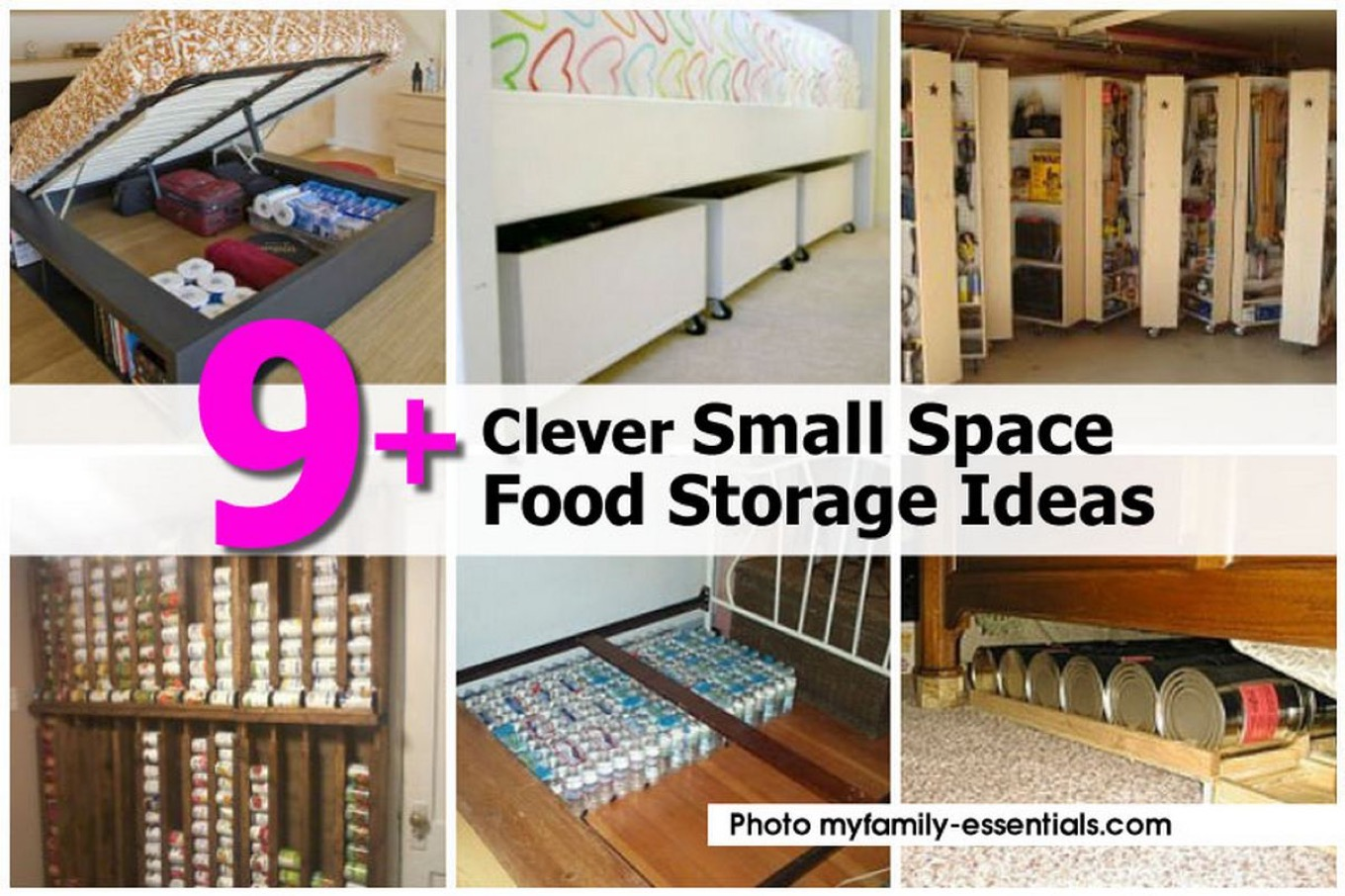 9 clever small space food storage ideas - Clever storage for small spaces pict ...