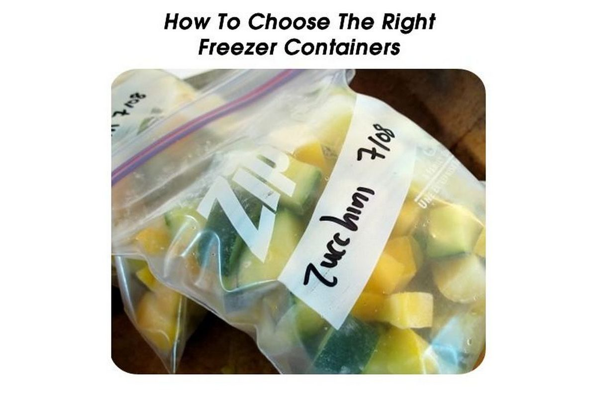 How to choose the right freezer containers - How to choose a freezer ...