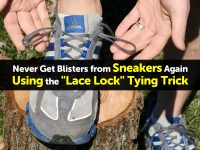"Never Get Blisters from Sneakers Again Using the ""Lace Lock"" Tying Trick"