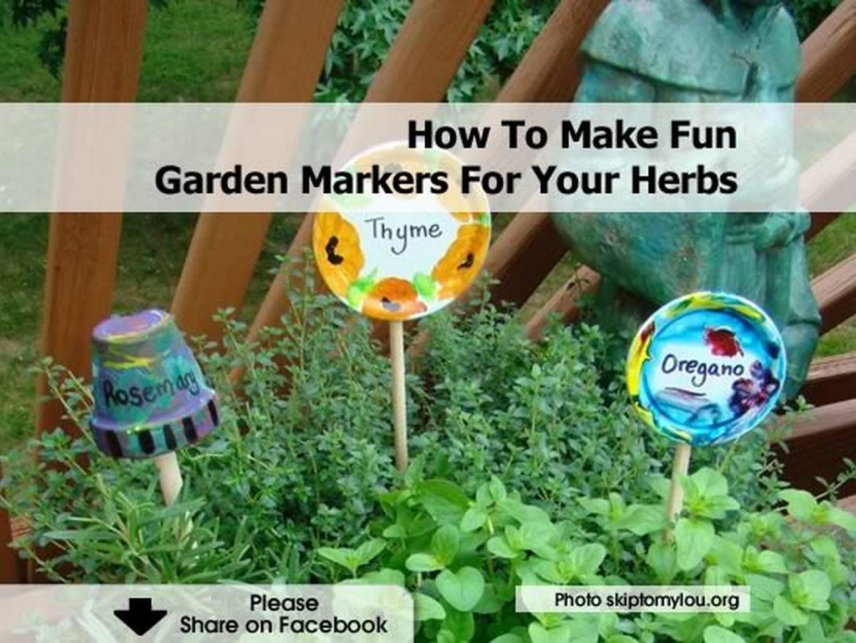 How To Make Fun Garden Markers For Your Herbs