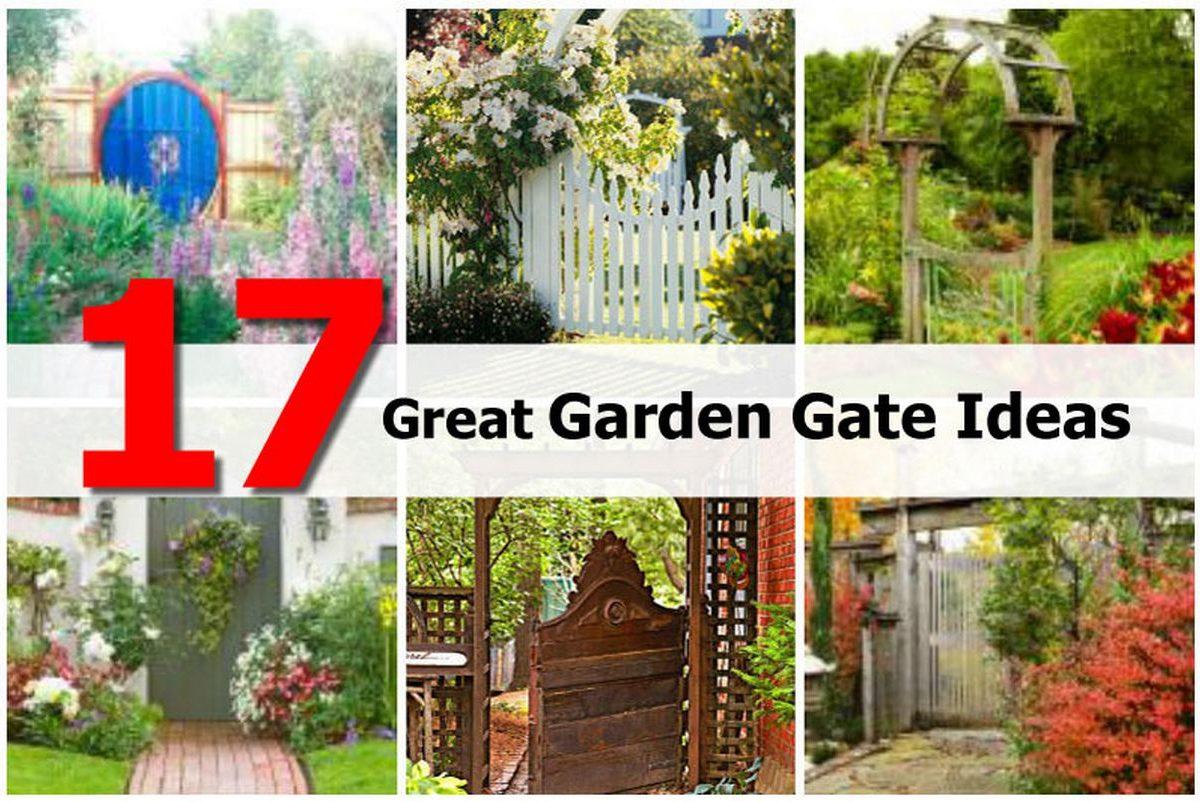 17 great garden gate ideas for Great garden design ideas
