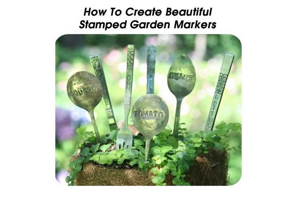 How to create beautiful stamped garden markers for How to make a beautiful garden