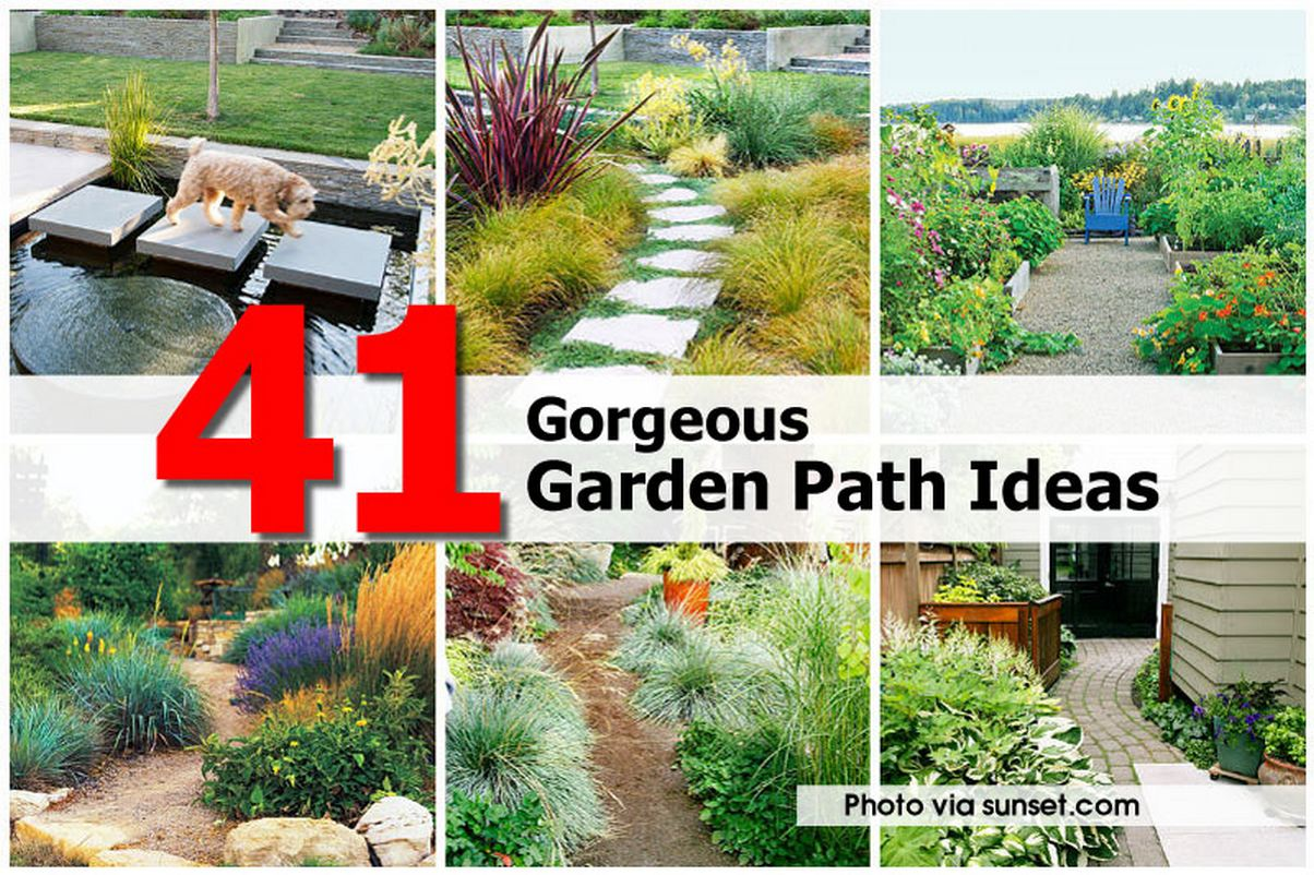 Charming ... Garden Design With Gorgeous Garden Path Ideas With Fire Pit For  Backyard From Hometipsworld.com