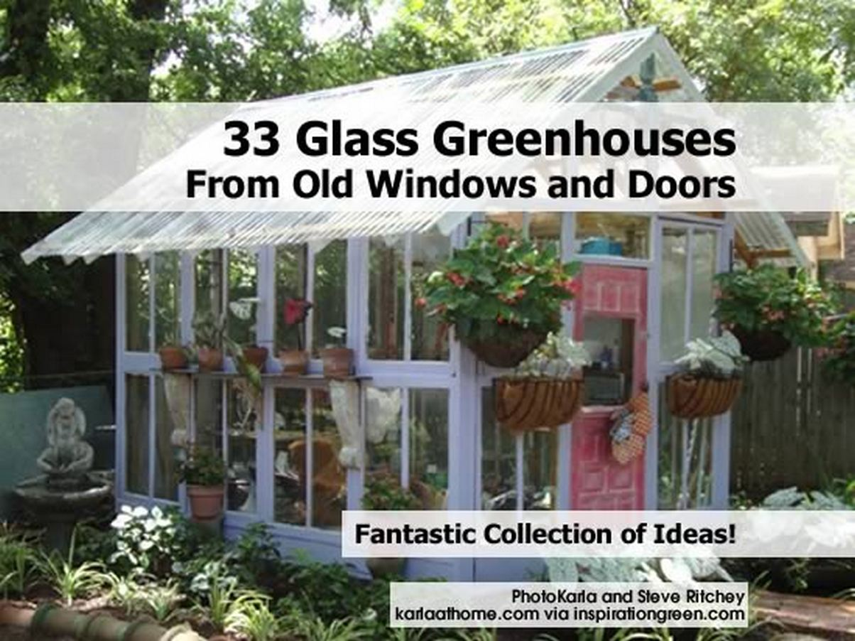 how to build a greenhouse out of windows