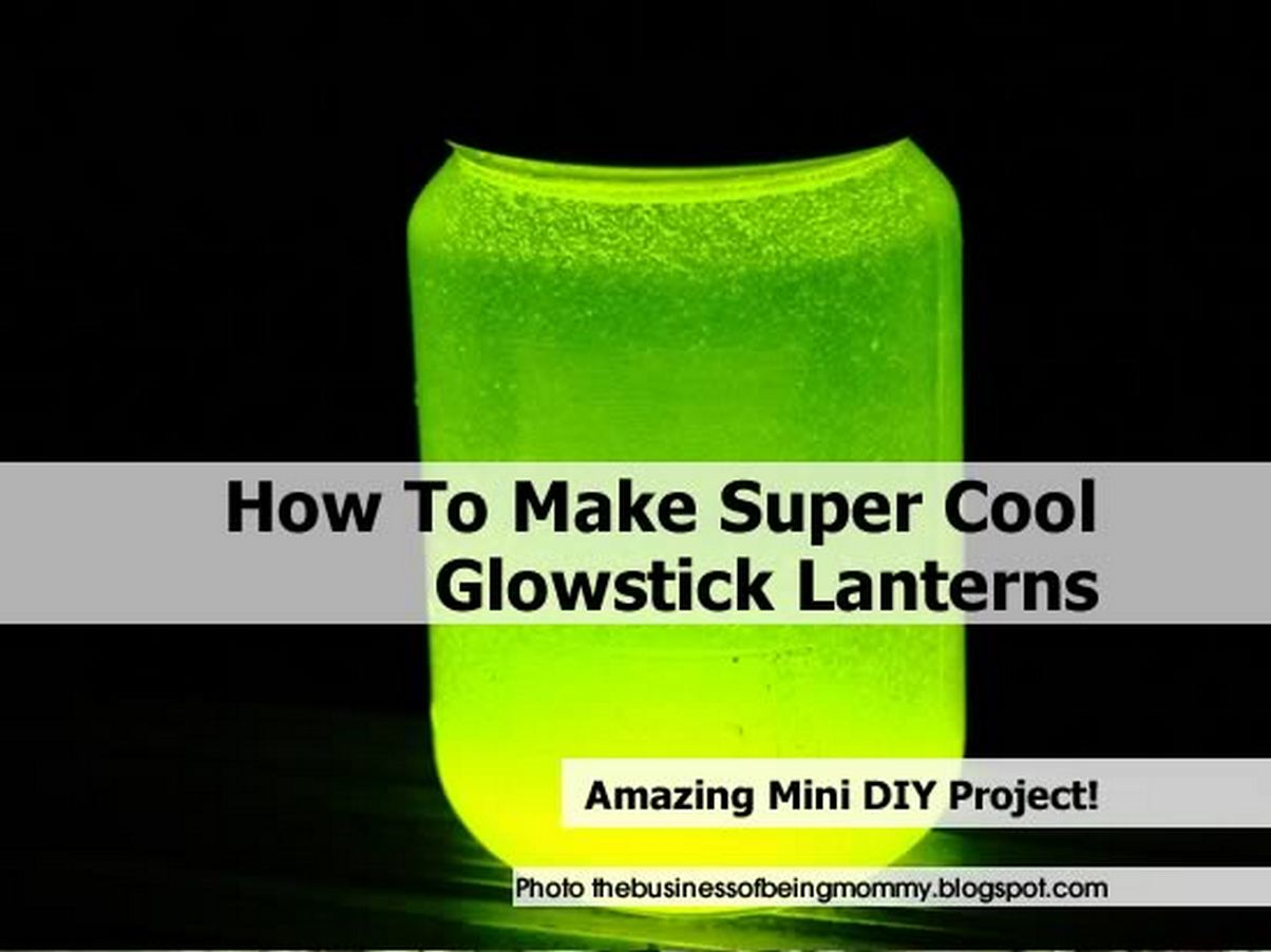 Halloween party decoration - How To Make Super Cool Glowstick Lanterns