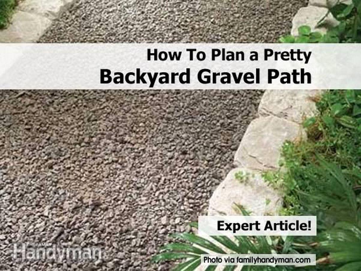 How To Plan A Pretty Backyard Gravel Path