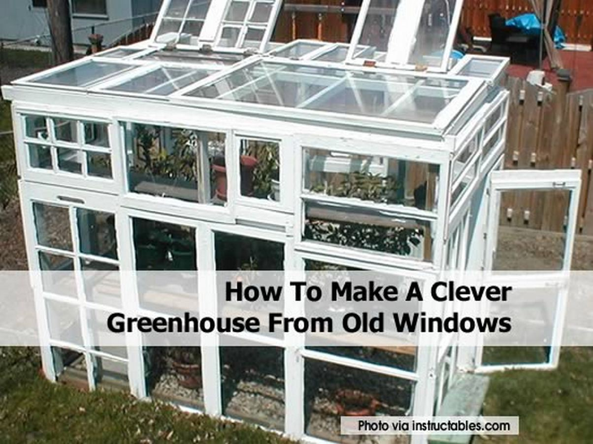 How to make a clever greenhouse from old windows for How to build a greenhouse using old windows