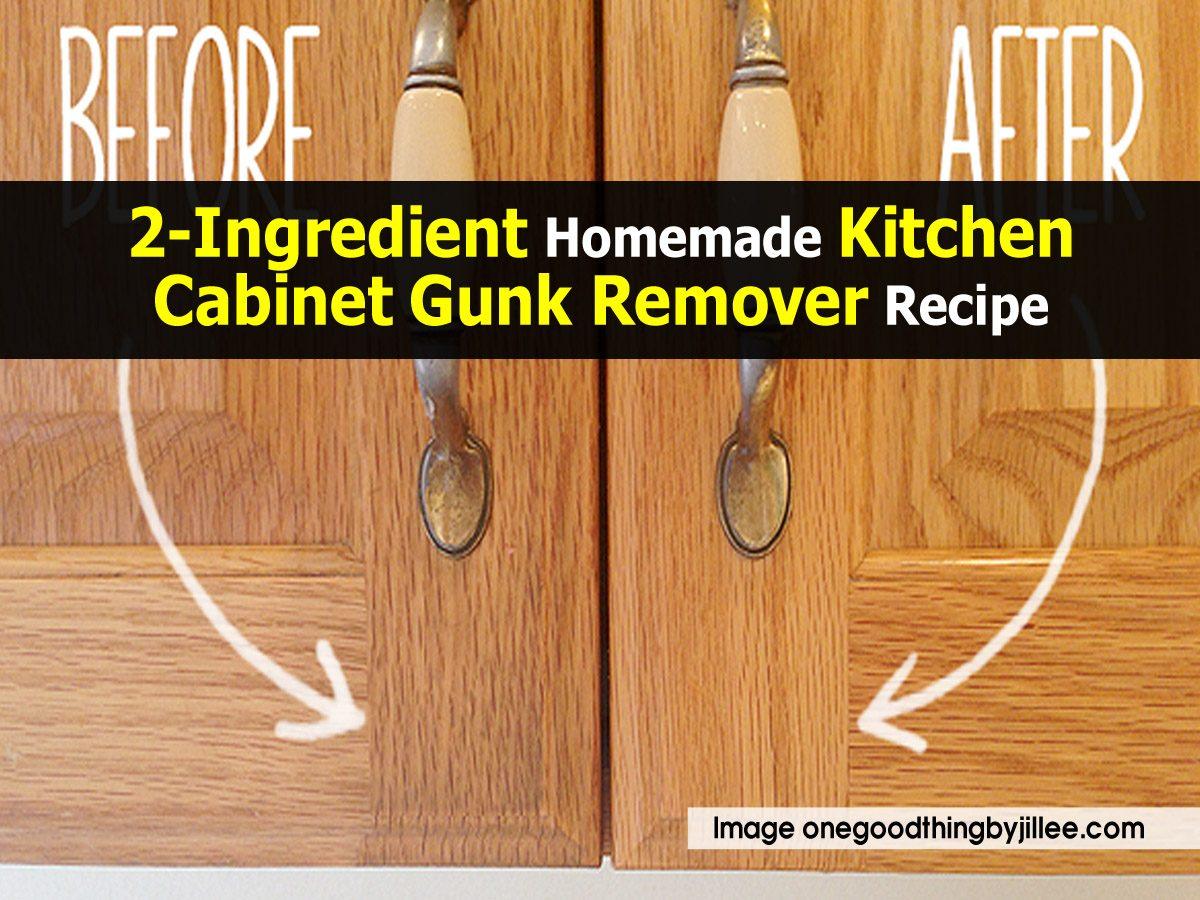 2-Ingredient Homemade Kitchen Cabinet Gunk Remover Recipe