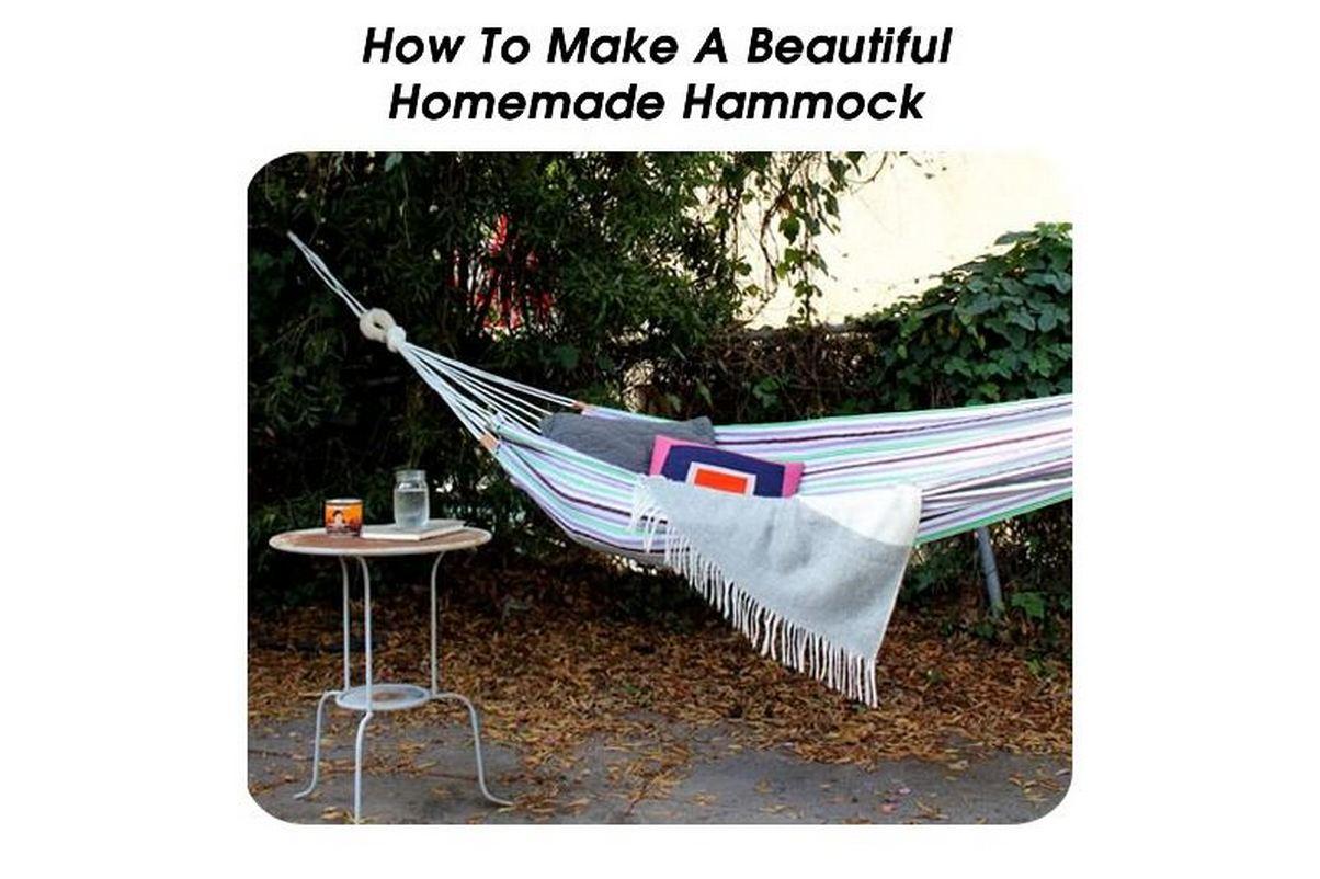 How to make a beautiful homemade hammock - How to make hammock at home ...