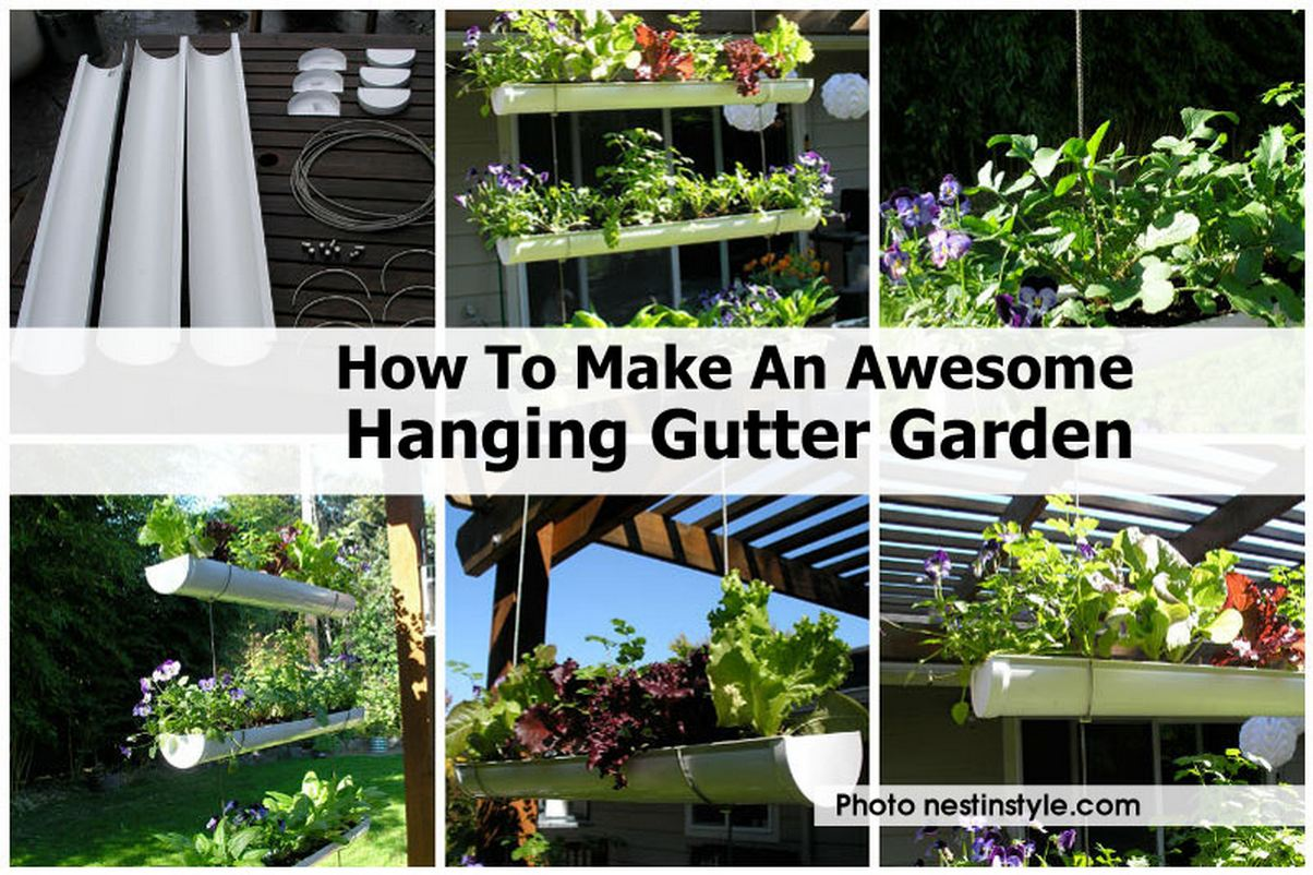 How To Make An Awesome Hanging Gutter Garden