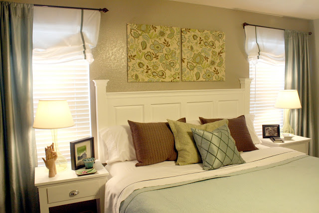 How to build an elegant headboard for 15 for How to make a headboard out of a door
