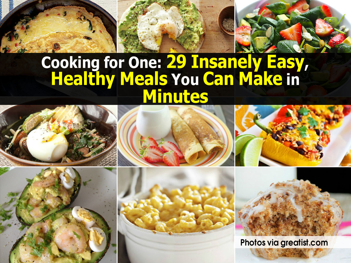 After all, these healthy meals are so much easier to make at home than we might initially anticipate, especially when all we can think about is what we're going to do with all those leftovers. Ahead, find 11 cooking for one tips that will have you eating well and feeling good. We promise it'll .