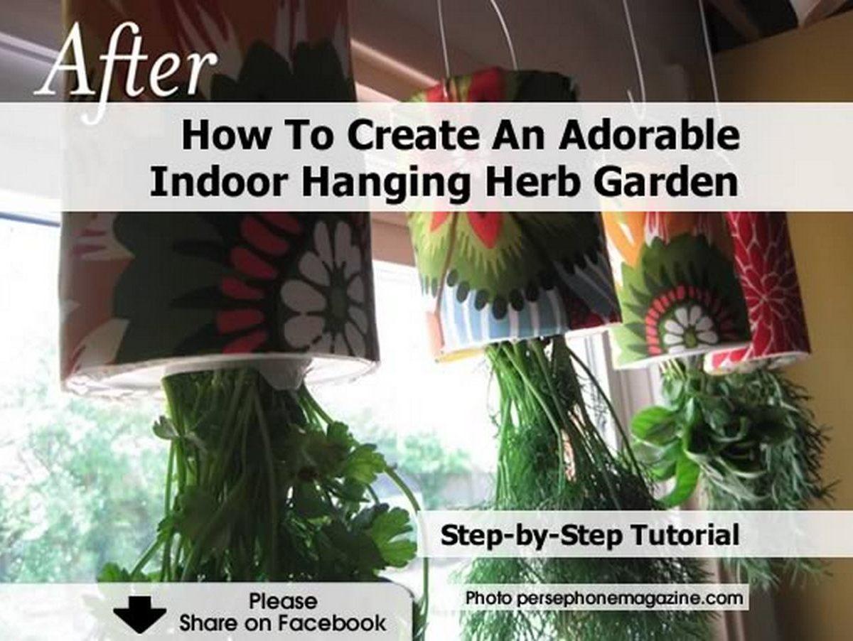 How To Create An Adorable Indoor Hanging Herb Garden