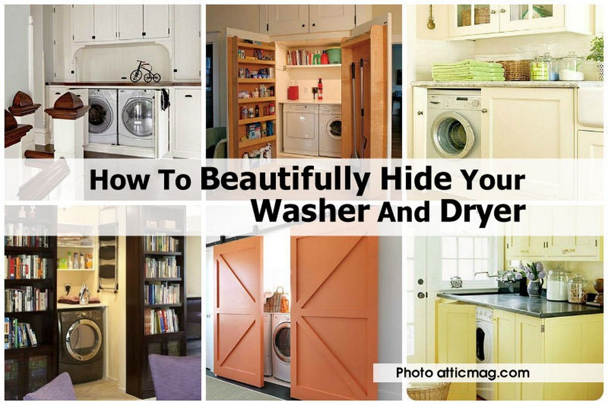 How To Beautifully Hide Your Washer And Dryer