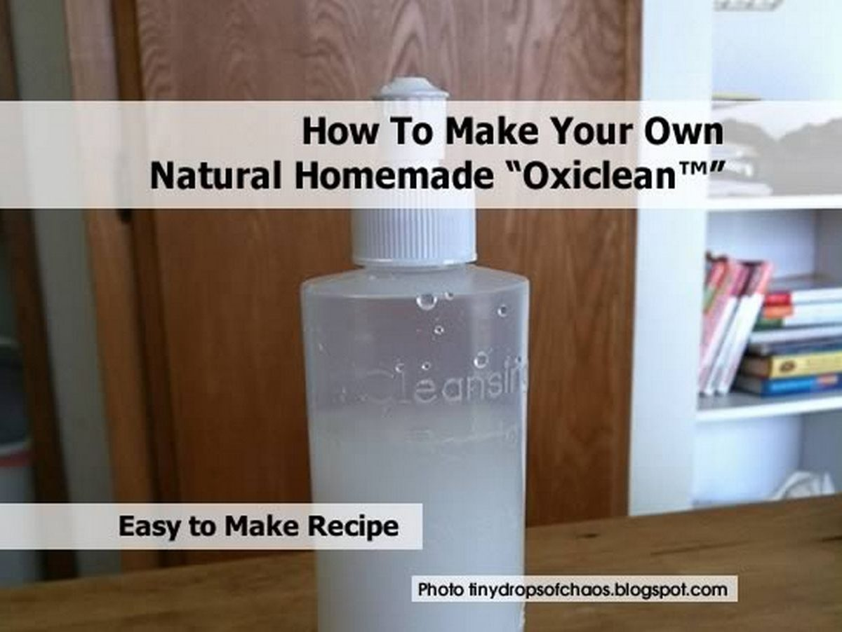 How To Make Your Own Natural Homemade Oxiclean