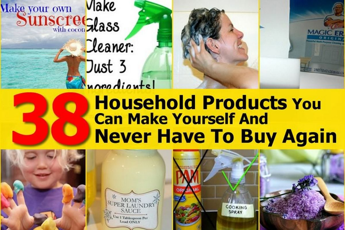 38 household products you can make yourself and never for Products you can make at home