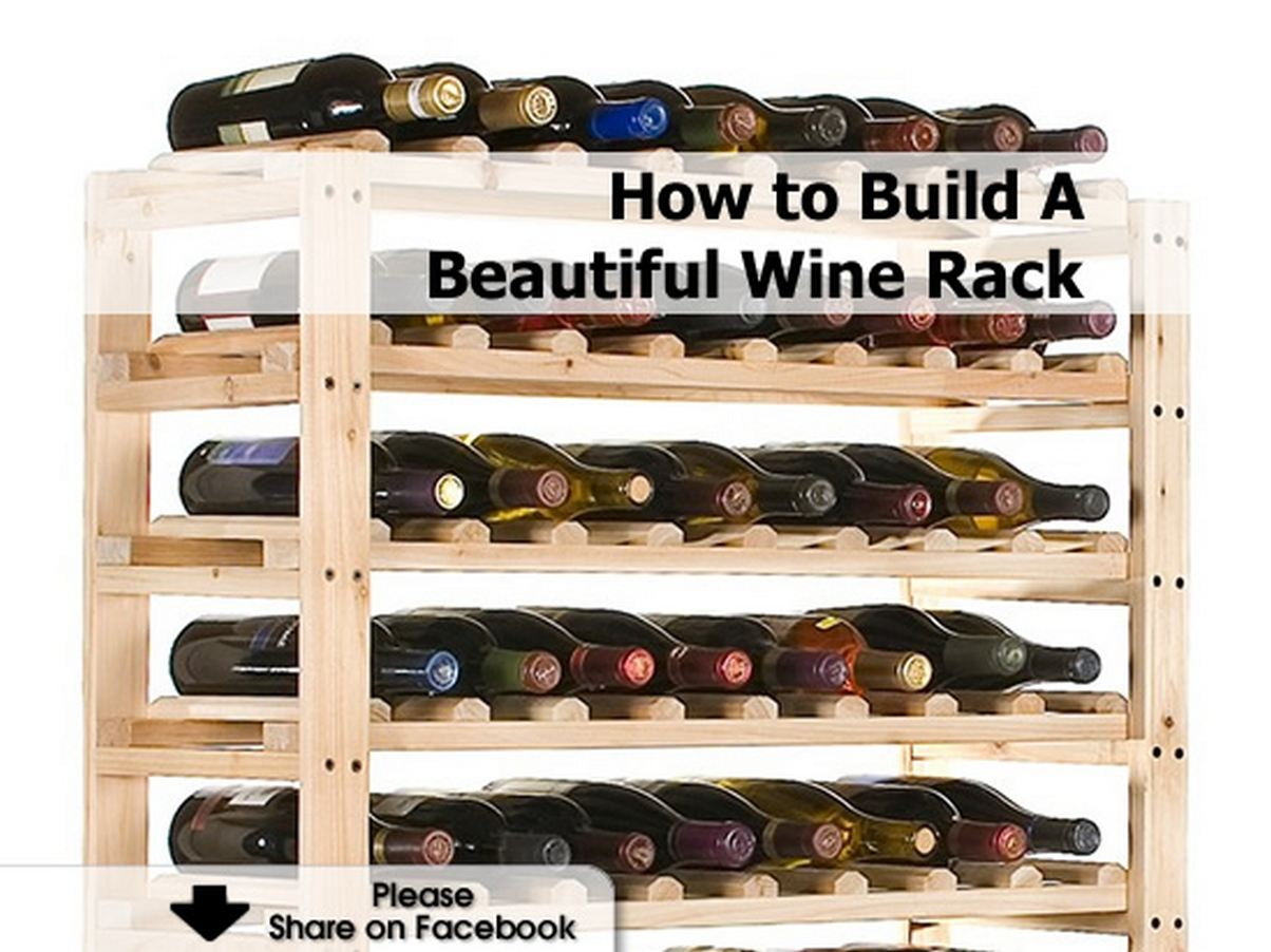 how to build a beautiful wine rack