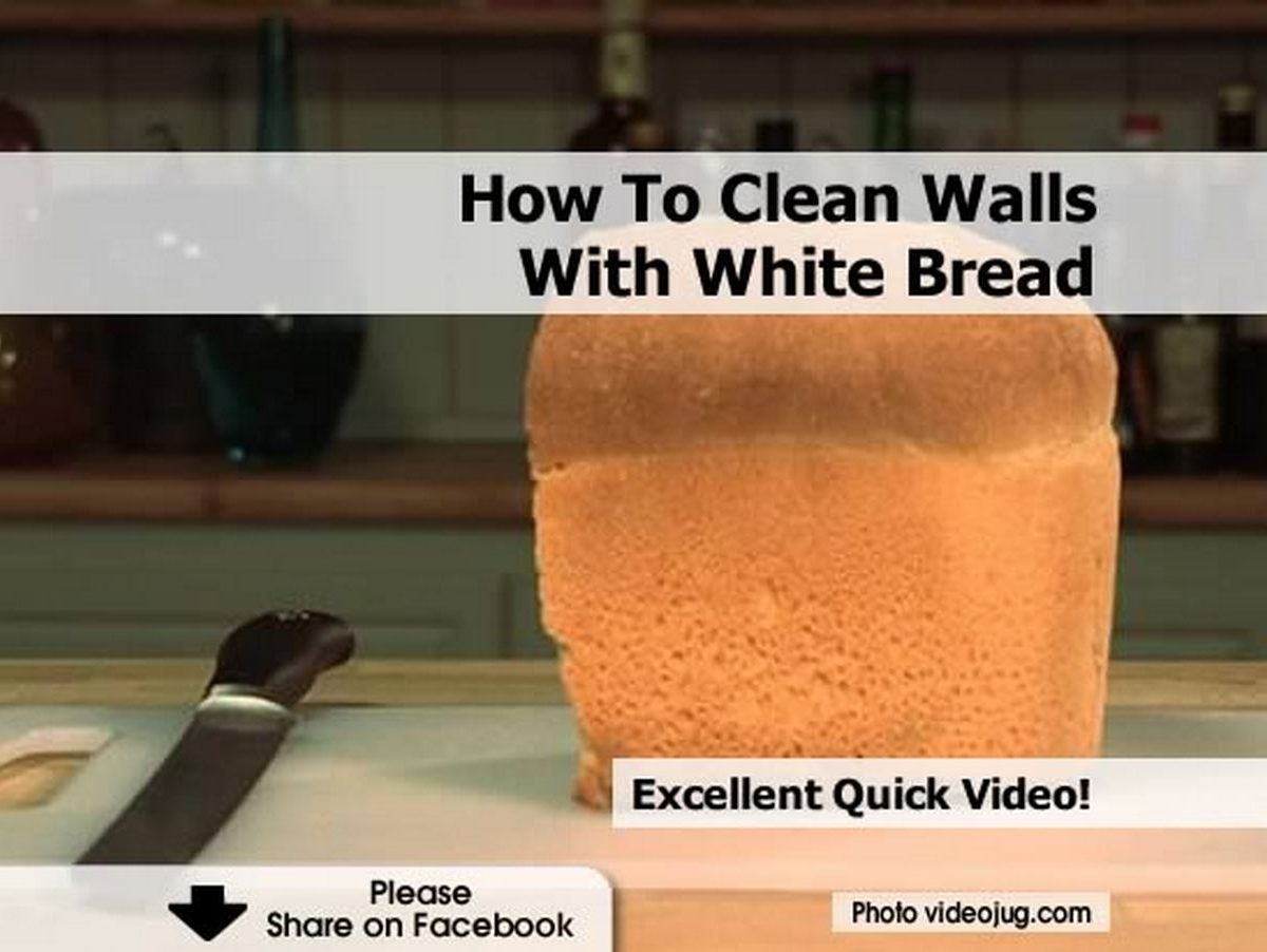 how to clean walls with white bread. Black Bedroom Furniture Sets. Home Design Ideas