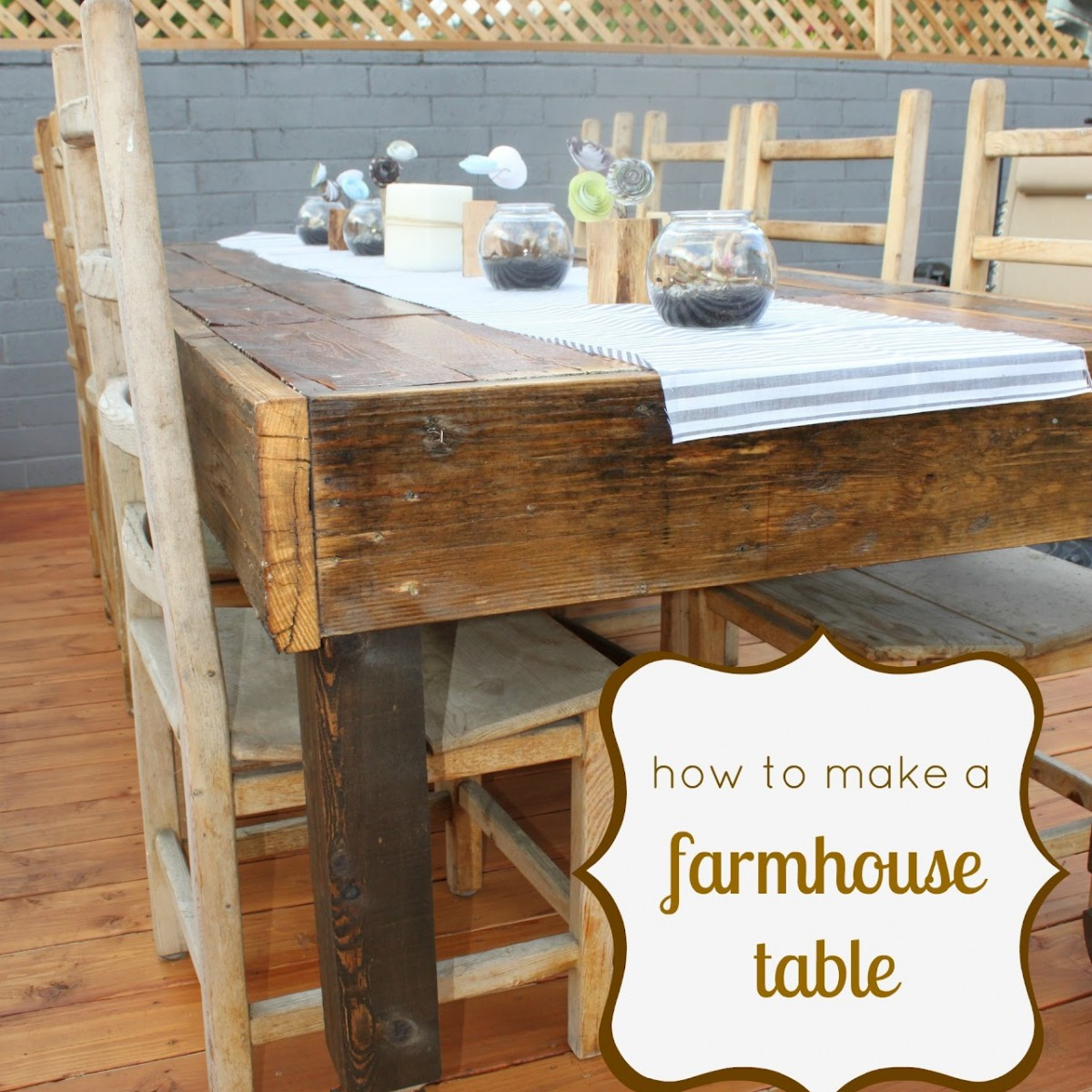 How to make a rustic farmhouse table - How to make a rustic kitchen table ...