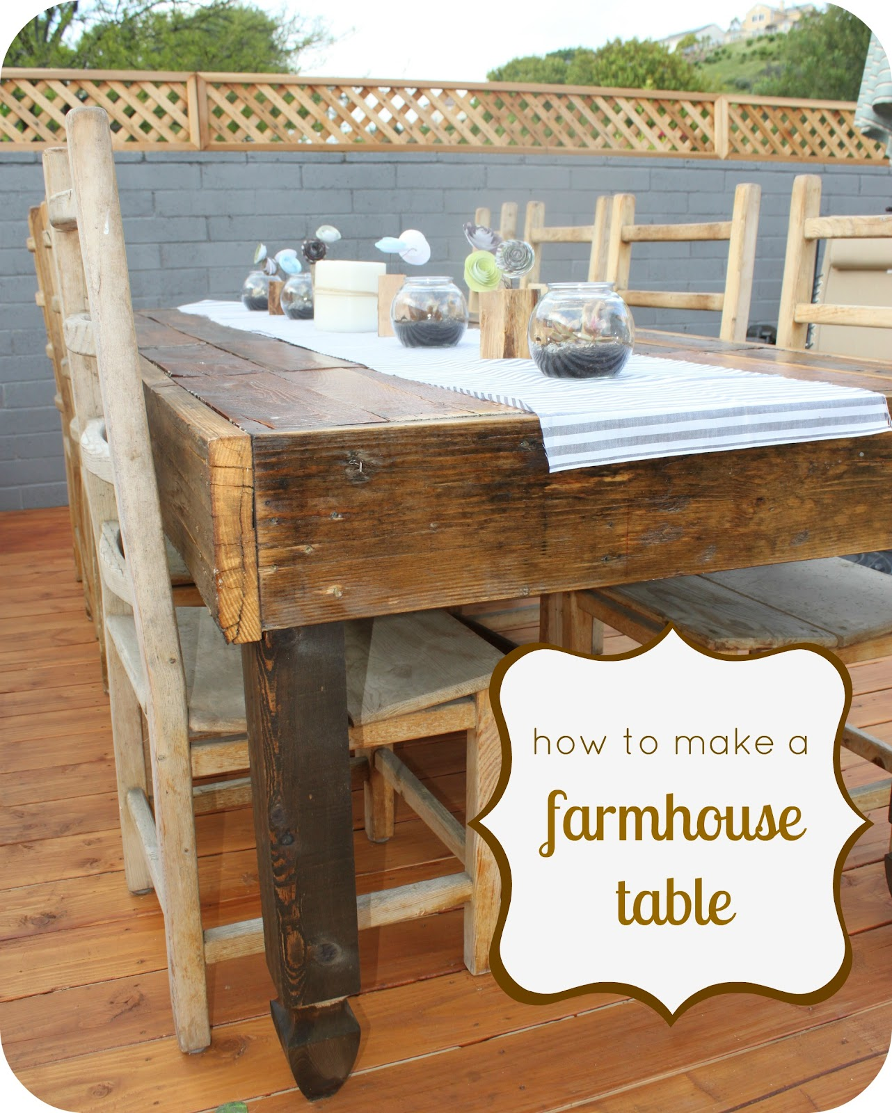 How to make a rustic farmhouse table How to build a farmhouse