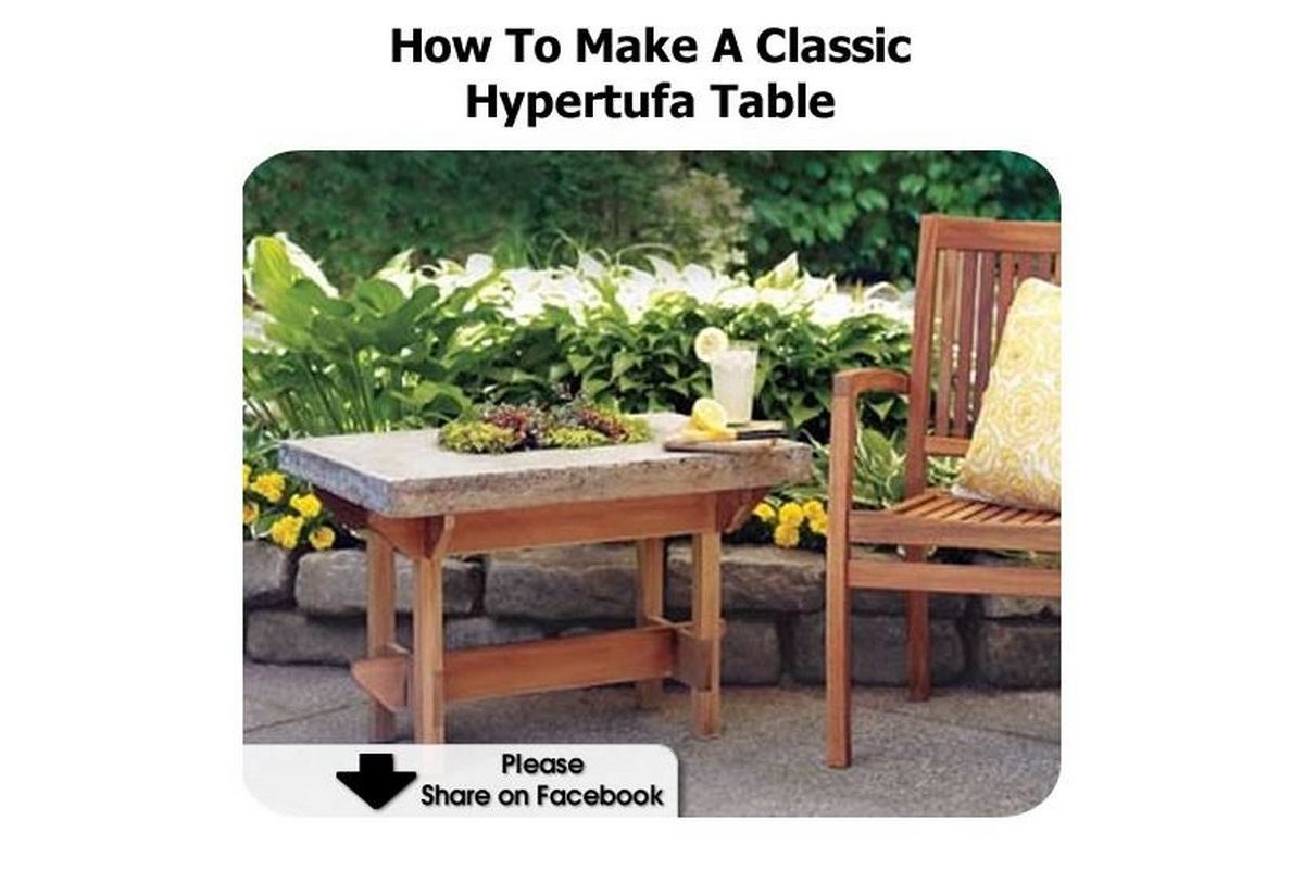 How to make a classic hypertufa table for Table exterieur hyper u