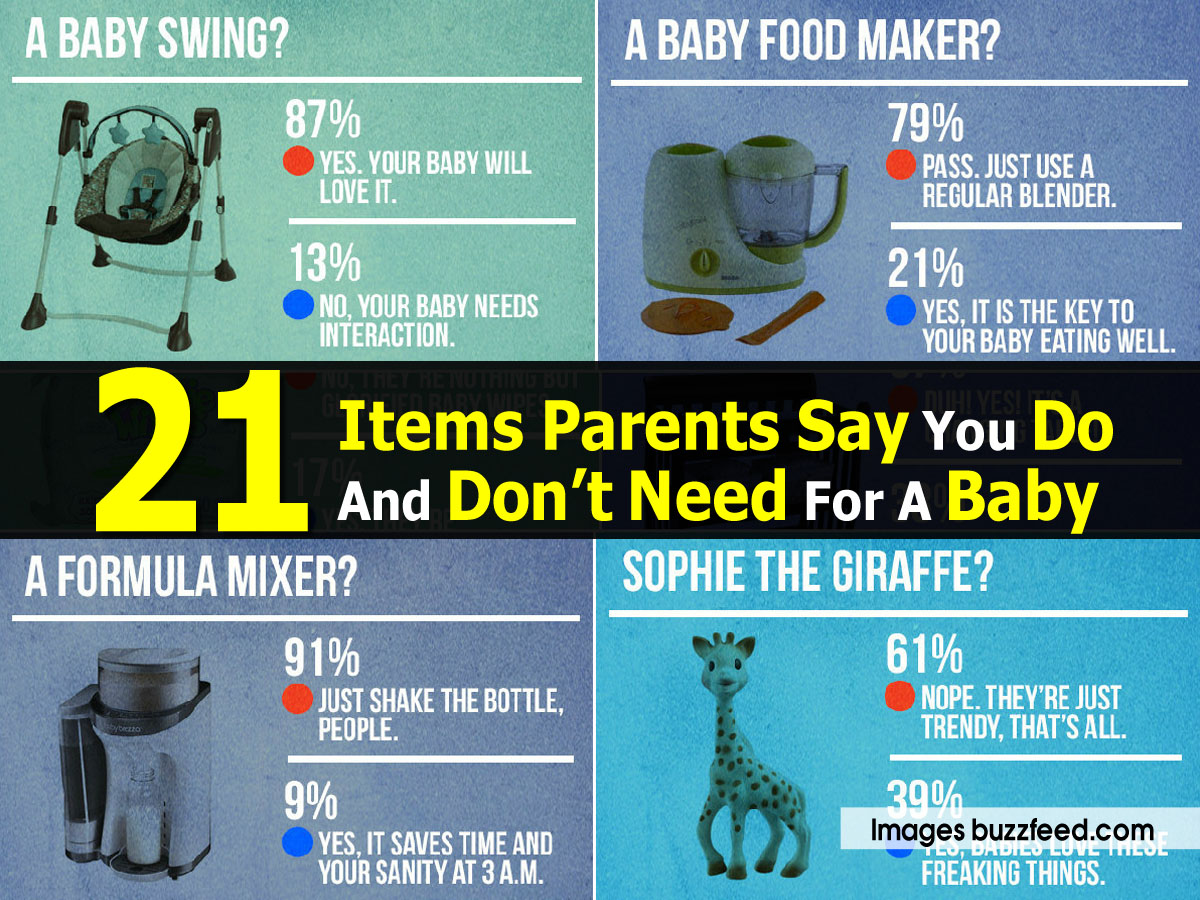 21 Items Parents Say You Do And Don't Need For A Baby