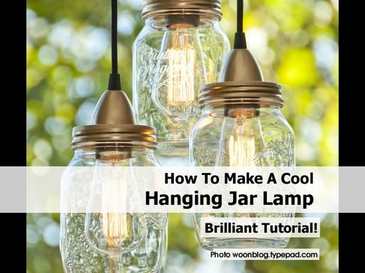 how to make a cool hanging jar lamp. Black Bedroom Furniture Sets. Home Design Ideas