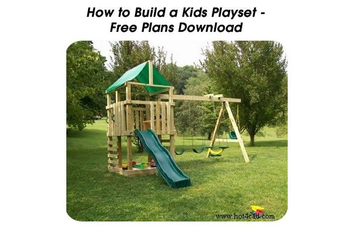 Build your own wooden playset plans free woodwork joints for Design your own playground online