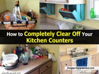 How to Completely Clear Off Your Kitchen Counters