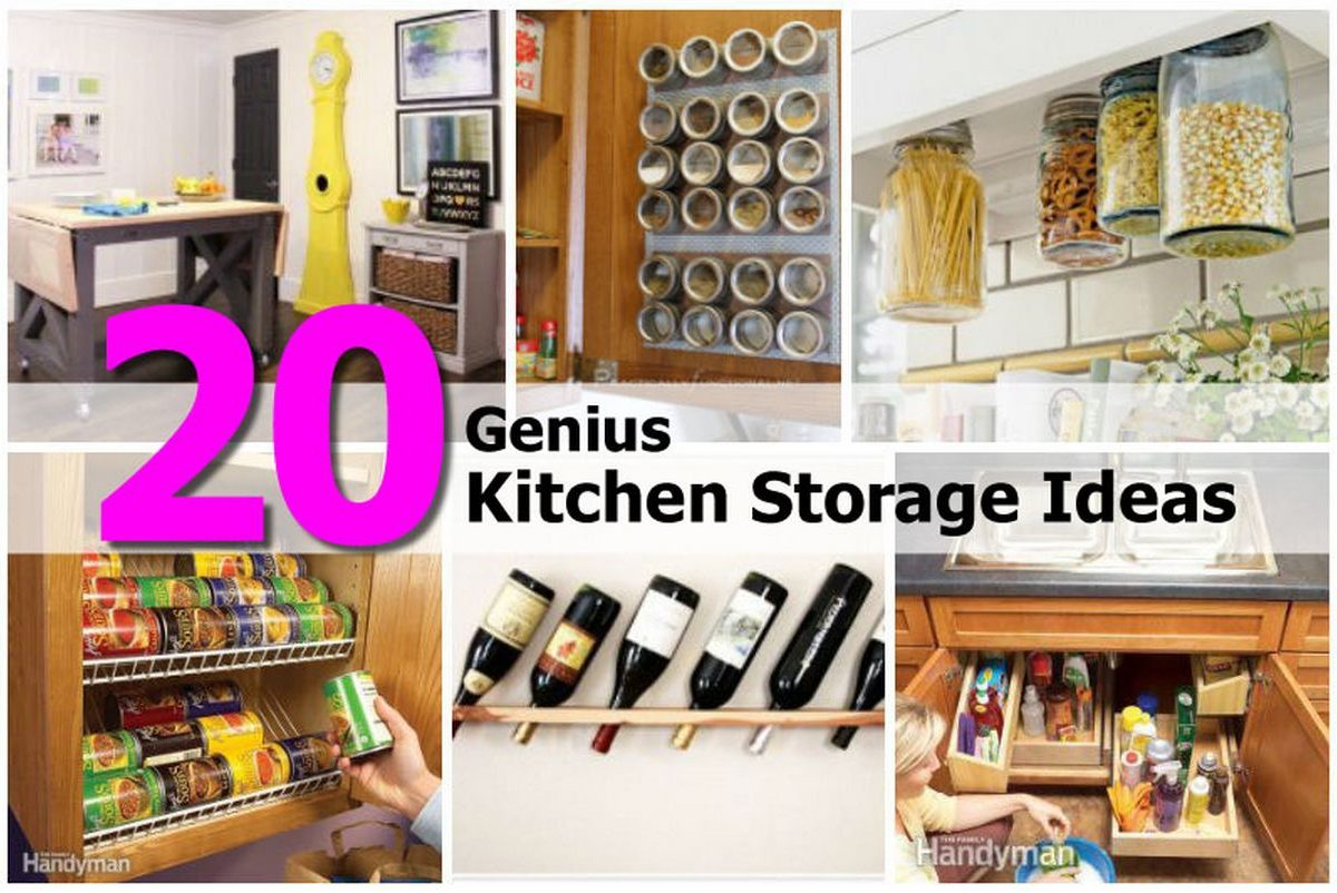 20 Genius Kitchen Storage Ideas