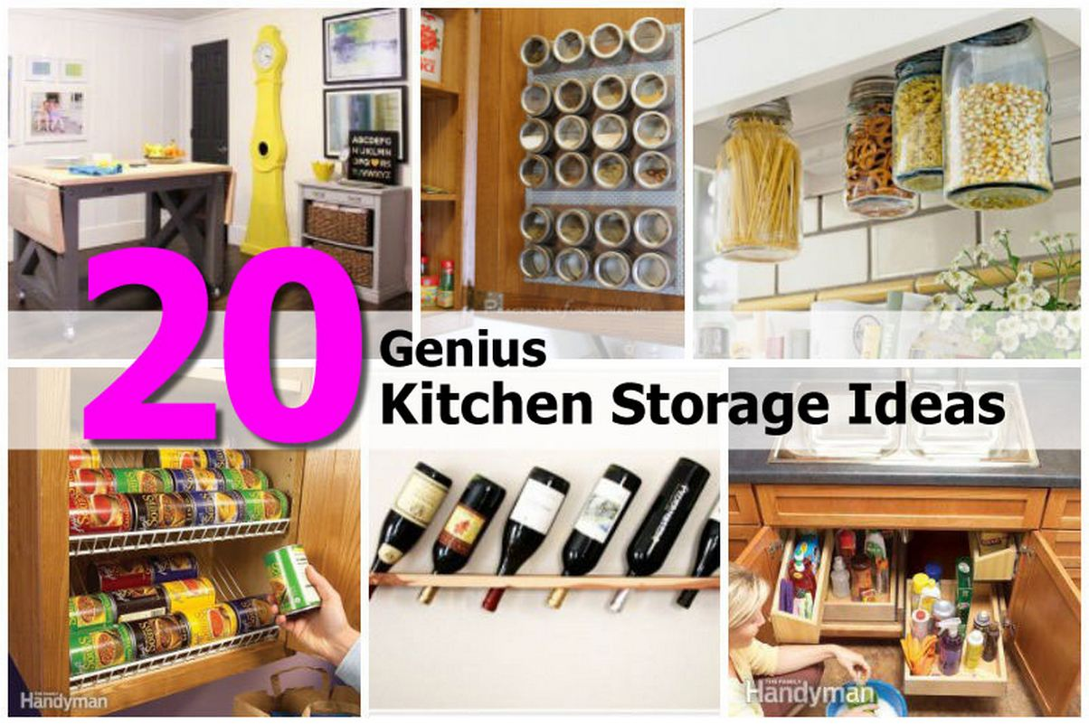 20 genius kitchen storage ideas for Kitchen storage ideas