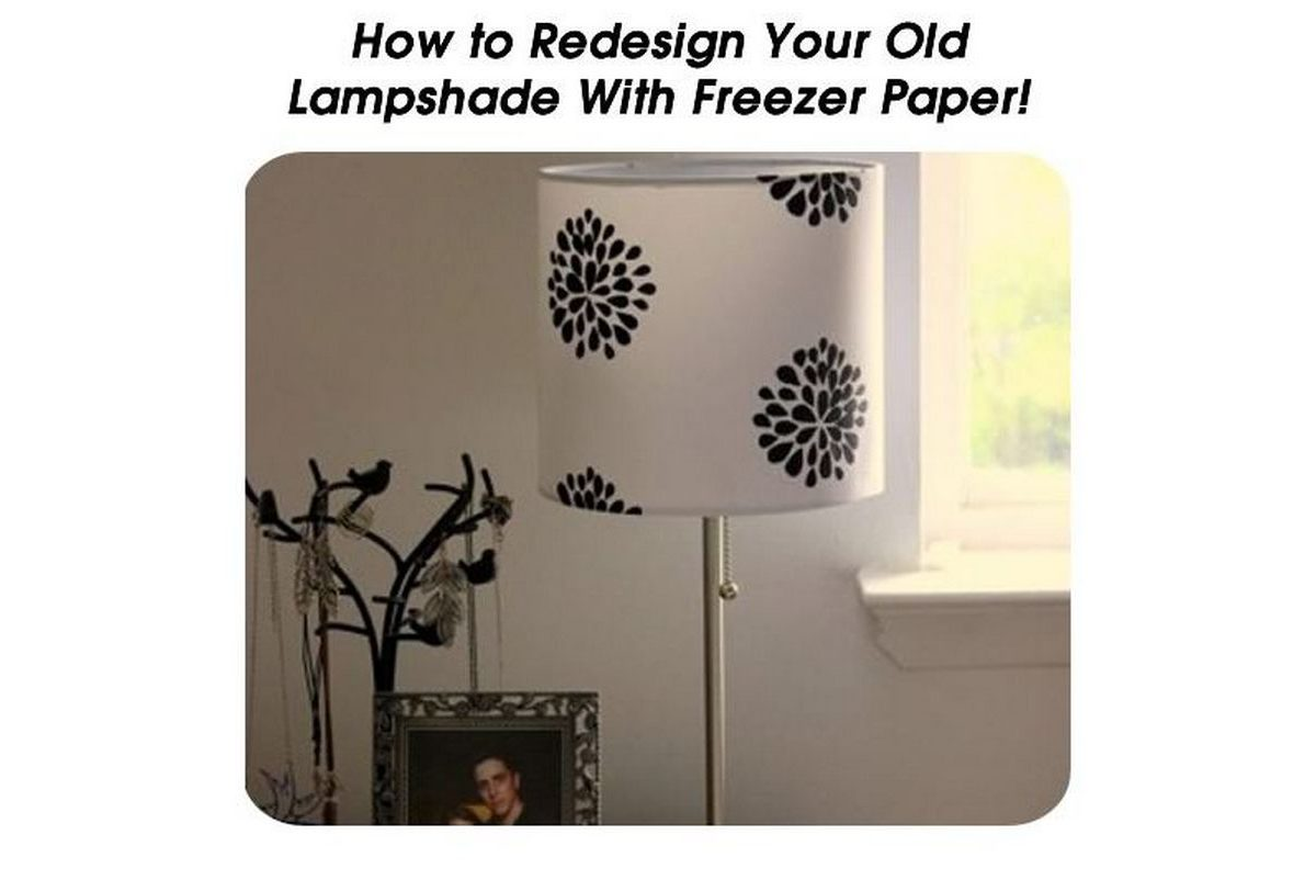 Redesign your old lampshade with freezer paper for Redesign your garden
