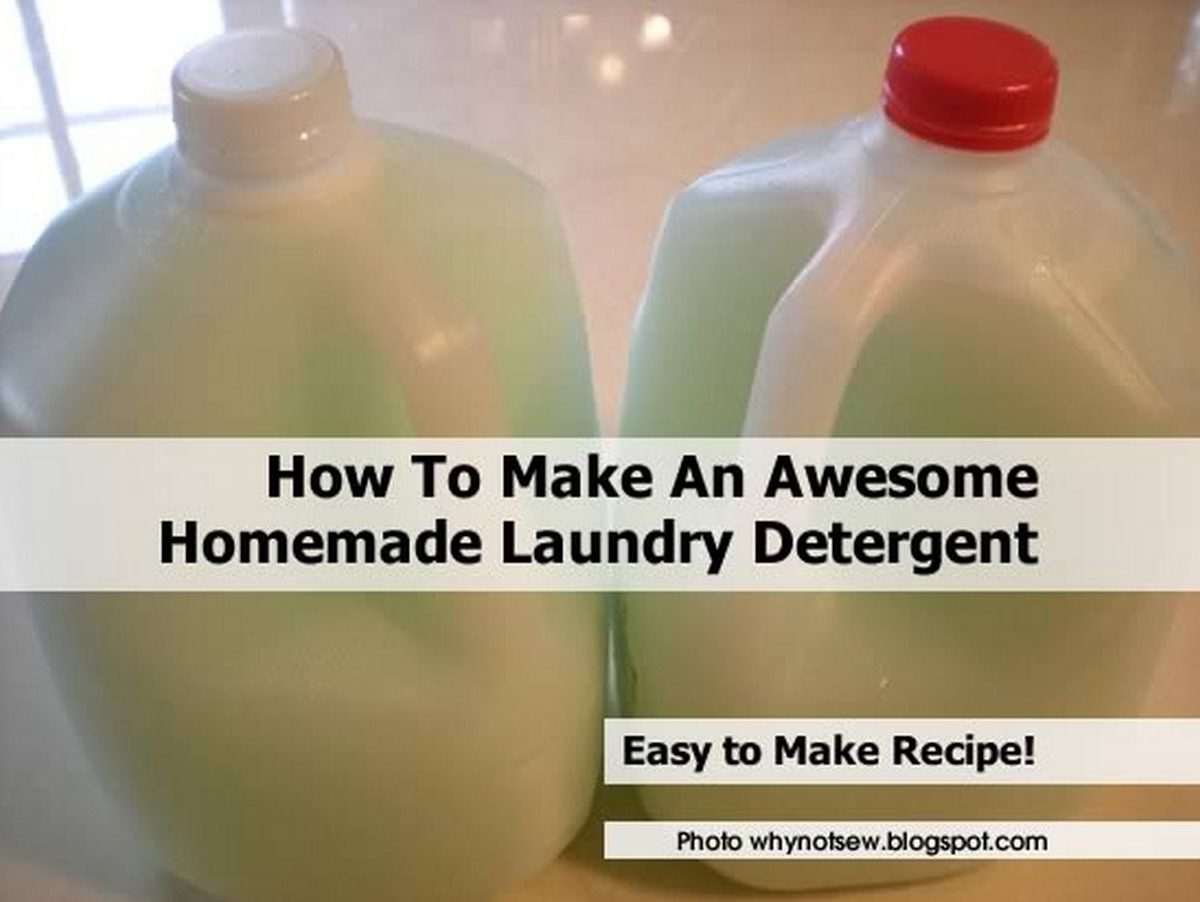How To Make An Awesome Homemade Laundry Detergent