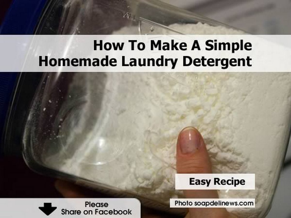 How To Make A Simple Homemade Laundry Detergent