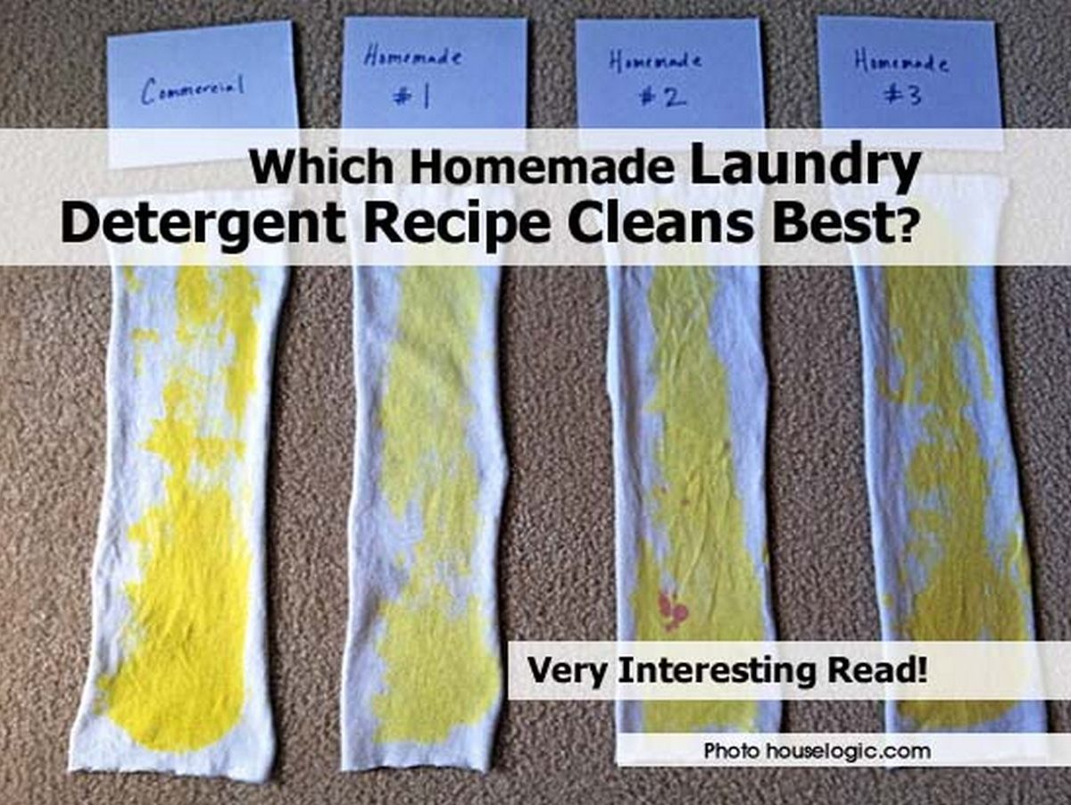 Which homemade laundry detergent recipe cleans best