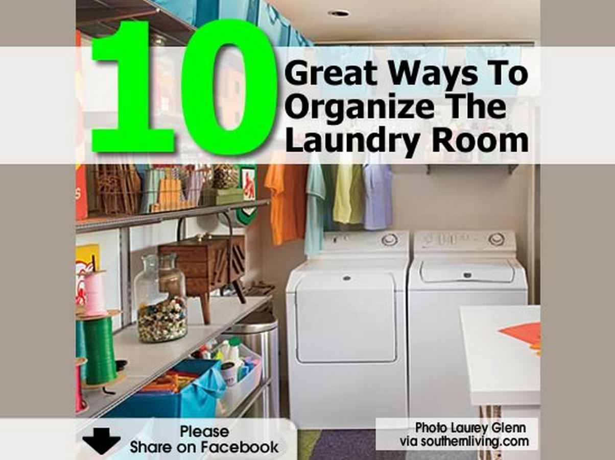 10 great ways to organize the laundry room