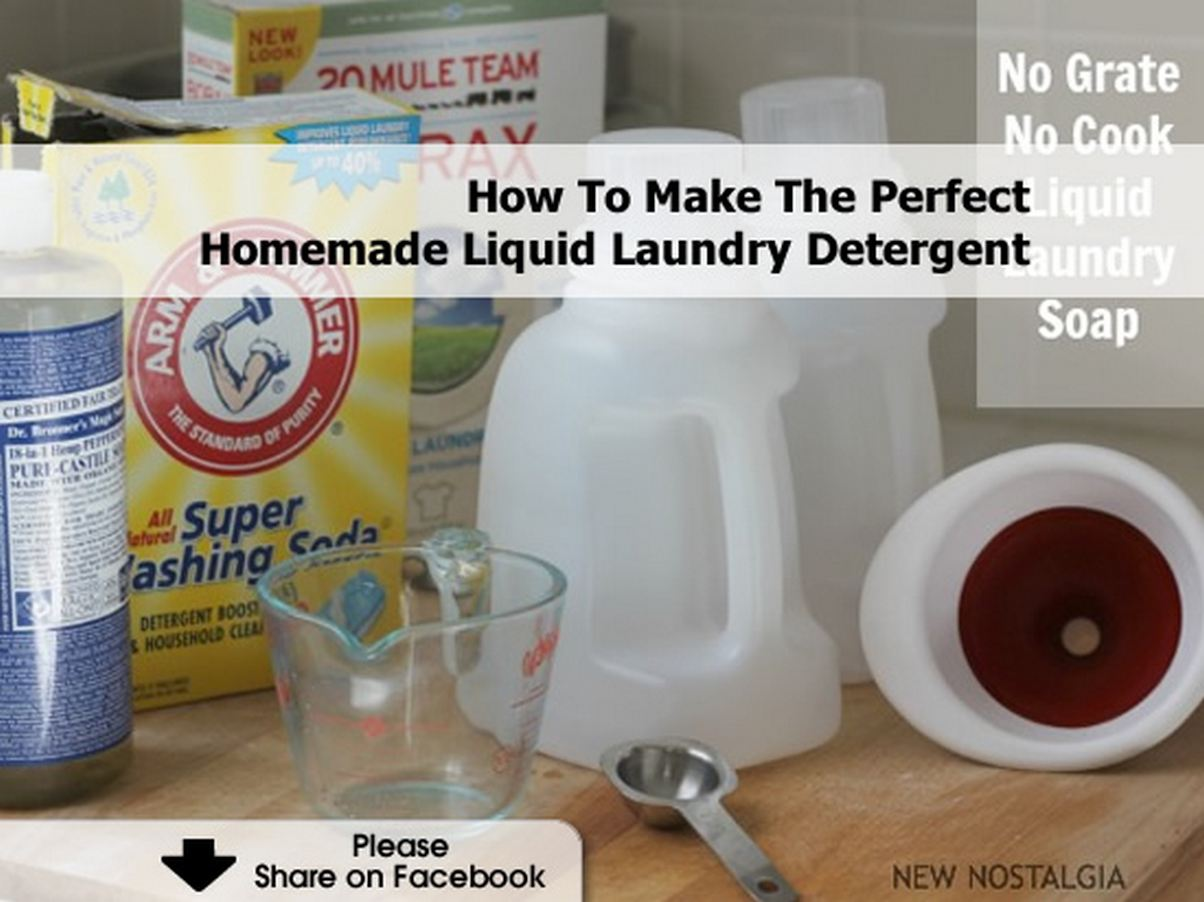 How To Make The Perfect Homemade Liquid Laundry Detergent